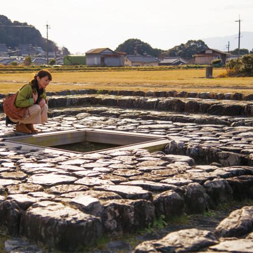 Les vestiges du palais Asuka Itabuki